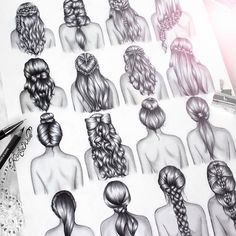 I've been doing heaps of drawing recently but it's for a secret project so I can't share it just yet ☺️Here is a repost of when I drew hairstyles about a year ago, double-tap your favourite! (I may be able to draw these but couldn't actually do any of these hairstyles to save my life)