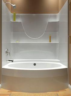 AKER SBW 3672 One Piece Gelcoated Fiberglass Tub Shower