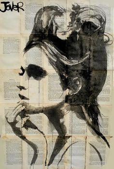 "artchipel:  Art Writer's Wednesday 1 - Tumblr Artist Loui Jover |  on Tumblr (Australia) ""I paint, I draw, and I do it everyday."" Loui Jover is a self represented full time artist from Queensland, Australia. His artwork involves drawing in ink over adhered-together vintage book papers. Loui has held three solo exhibitions and has been included in numerous group shows. Leslie Seuffert interviewed the Artist for Artchipel's Art Writer's Wednesday #1.  Leslie Seuffert for Artchipel : You've…"