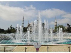 The plaza of Sultanahmet Park, Istanbul, situated halfway between the Blue Mosque and Hagia Sophia and famous for its views of both.