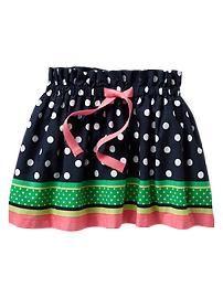 Striped dot skirt