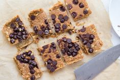 easy vegan peanut butter oat bars. No bake, refined sugar free, and delicious!