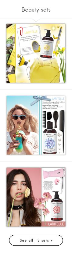 """Beauty sets"" by laritelle ❤ liked on Polyvore featuring beauty, Topshop, Drybar, Wildfox, GHD, Oribe, Tangle Teezer, Corto Moltedo, Mar y Sol and Hollister Co."