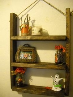 Rustic,Handmade,3 Shelf,Wall Hanging,Sisle Rope,Idea for Apartment-Versatile  VERY NICE...... ;) CUTE IDEA FOR A BOOKSHELF ON THE WALL