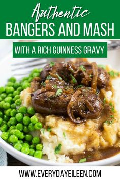 This easy Irish recipe for Bangers and Mash using sausages over a creamy mash potato is a hearty and mouthwatering meal. Served with a rich Guinness infused gravy will delight everyone.