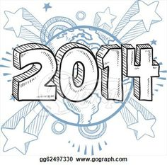 new years eve   Stock Illustrations - 2014 New Year's Eve sketch. Stock Clipart ...