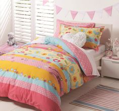 Amity Pink Quilt Cover Set by Logan