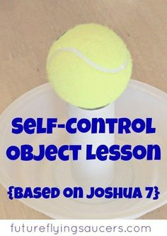 Use a jar, bowl, toilet paper roll, and a tennis ball, to teach a fun self-control object lesson! Youth Group Lessons, Kids Church Lessons, Bible Lessons For Kids, Youth Groups, Children Sunday School Lessons, Youth Ministry Lessons, Young Women Lessons, Preschool Bible, Bible Activities
