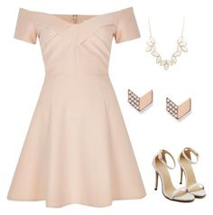 """nude"" by christine725 on Polyvore featuring River Island, Charlotte Russe and FOSSIL"