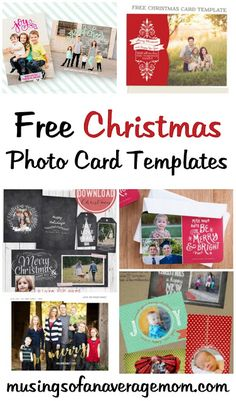 Musings Of An Average Mom: Free Photo Christmas Card Templates intended for Free Christmas Card Templates For Photographers - Professional Sample Templates Diy Holiday Photo Cards, Christmas Photo Card Template, Free Printable Christmas Cards, Family Christmas Cards, Christmas Photos, Christmas 2019, Christmas Crafts, Photocollage, Photographers
