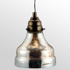 Find it at the Foundary - Antiqued Silver Glass Lamp