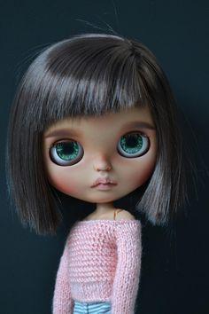 Linda Blythe doll Custom blythe doll Brown hair Blythe Custom