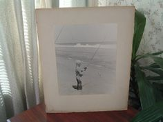 Vintage Large black and white photograph by luckyrosiescreations, $21.00
