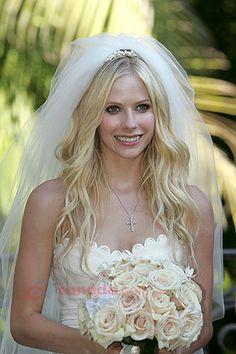 Hair, White, Bouquet, Veil, Down
