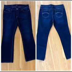 """👖ANA Jeans Washed but never worn. Lighting is off on the """"double"""" photo. Rise 9"""" Inseam is 31"""". Waist 16/33 S. ANA Jeans Boot Cut"""