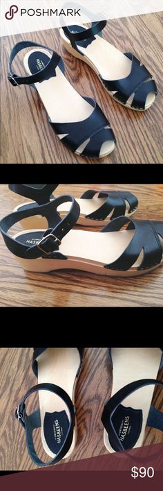 Swedish Hasbeens Suzanne Debutant Sandal - Size 38 Swedish Hasbeens Suzanne Debutant Sandal -- size 38 -- Black -- Worn once to a wedding Swedish Hasbeens Shoes Mules & Clogs