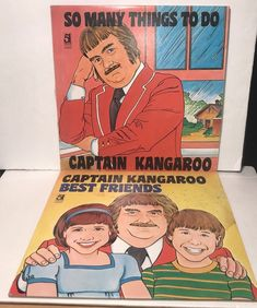 Captain Kangaroo LP's Lot Of 2 Best Friends & So Many Things To Do 1980