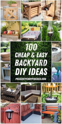 backyard diy projects Spruce up your backyard on a budget with these cheap and easy DIY backyard ideas. From patio ideas to landscaping ideas, there are plenty of DIY projects to choose from that are guaranteed to work for big and small yards. Garden Ideas Budget Backyard, Budget Patio, Diy Patio, Diy Garden, Diy On A Budget, Garden Paths, Big Backyard, Wooden Garden, Easy Patio Ideas