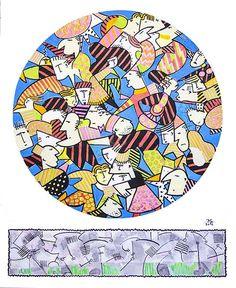 Jean Michel Garachon 2016 - Étude 07 acrylique sur papier 35,5x43cm
