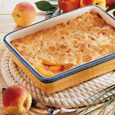 Colorado Peach Cobbler - my son made this with just a little added cinnamon with some fresh Colorado peaches.  Was easy and it was SO good warm with some homemade ice cream.  Definitely keeping this recipe!