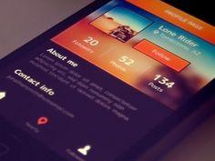 Dribbble - Crystal Clear Interface Photo by Vlade Dimovski App Ui Design, Web Design Trends, Mobile App Design, Interface Design, Mobile Ui, User Interface, Tablet Ui, Ui Design Inspiration, Application Design