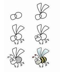 Como dibujar una abeja