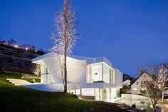 Imagine coming home to this at night! Amazing!! Or inviting your friends over for dinner :) Project - Haus am Weinberg by UNStudio in Stuttgart, Germany - Architizer