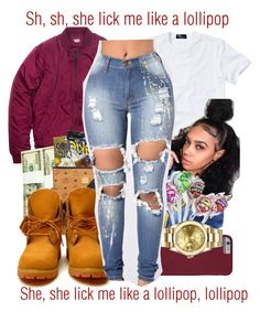 """""""Lollipop x Lil Wayne"""" by juicyums ❤ liked on Polyvore featuring Monday, Polo Ralph Lauren and Rolex"""