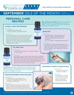 "September 2014 Aroma Share Club ""Feel Better"" Collection includes Bay Laurel, Sweet Birch, and 1st Defense (blend) essential oils - Personal Care Recipes"