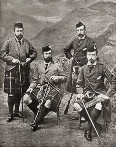 The four sons of Queen Victoria and Prince Albert: Prince Albert, later Edward VII, Prince Alfred, Duke of Edinburgh, later Duke of Saxe-Coburg and Gotha, Prince Arthur, Duke of Connaught, and Prince Leopold, Duke of Albany