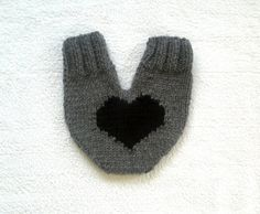 One mitten for two hearts knitted lovers mitten by KnitterPrincess, $24.00