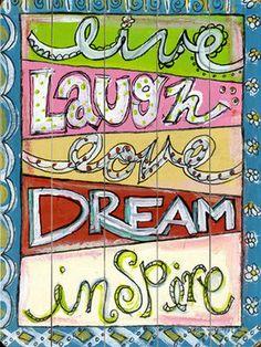 Laugh Love Dream Wall Decor