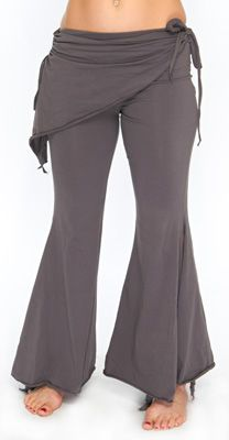 Tribal Fusion Gothic Belly Dance Pants - GREY.... these look really comfy