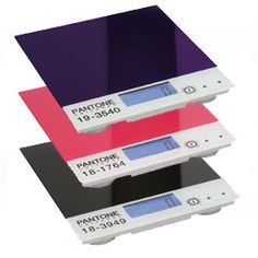 Pantone Kitchen Scales. These make me happy in the nerdiest way possible.