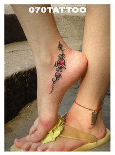 tribal #ankle #tattoo