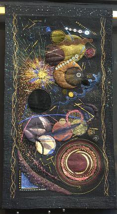 """Ptolemy's Challenge"" by Raita Sawyer.  Photo by Annelize Littlefair : Festival of Quilts 2015 (UK)"