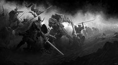 Battle of Hithlum-EVO Project, F F on ArtStation at https://www.artstation.com/artwork/bV6XE