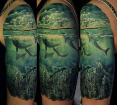 If you want to make Tattoo under water city dolphins yourself and you are looking for the suitable design or just interested in tattoo, then this site is for you.