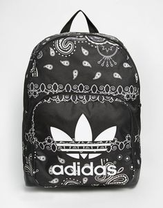 Bag: backpack paisley mandala adidas tumblr back to school school book bandana print black backpack