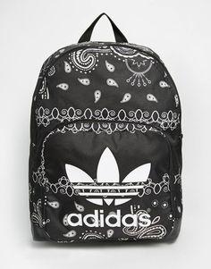 Bag: backpack paisley mandala adidas tumblr back to school school book bandana print black backpack
