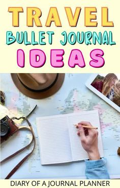Planning your next adventure? We've got the travel bullet journal ideas for you! #traveljournal #bulletjournal Best Travel Journals, Travel Journal Pages, Travel Journal Scrapbook, Bullet Journal Travel, Bullet Journal How To Start A, Bullet Journal Layout, Bullet Journals, Journal Organization, Travel Organization