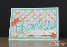 Stampin' Up! Hello You & Crazy About You Greeting Card