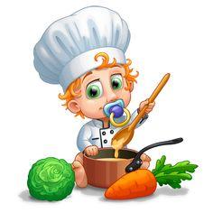 Un jour je serai un grand chef - T-shirt Enfant manches courtes - Coton - Blanc Grand Chef, Geek Baby, Le Chef, White Cotton, Sleeves