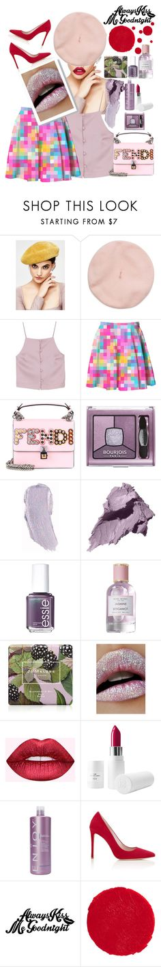 """""""Always a good night!!"""" by felicitysparks ❤ liked on Polyvore featuring Fendi, Bourjois, Bobbi Brown Cosmetics, Essie, Henri Bendel, Jo Malone, Lime Crime, Dreamgirl and Kevyn Aucoin"""