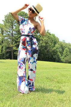 Get summer chic with this Abstract Sachin & Babi Jumpsuit