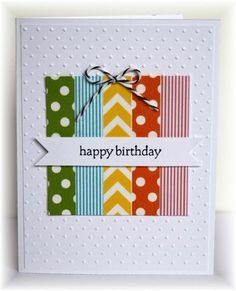 Made with washi tape but paper strips can be used instead - Scrappin and Stampin in GJ: