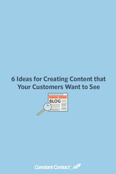 Finding content ideas can actually be easier than you think when you turn to your customers to guide you. After all, they are the ones who will be reading and engaging with the content, doesn't it make sense to start with them?  Here's a guide to 6 types of content that will keep your customers engaged and make them want to share your content with new potential customers!