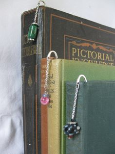 Bookmarks set of three by Trudysbeads on Etsy