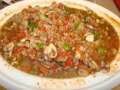 Low Carb Crock Pot Pizza Soup. Photo by Chef #1800224652