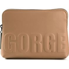 3.1 Phillip Lim 'Gorge 31 Second' pouch ($325) ❤ liked on Polyvore featuring bags, handbags, clutches, pouch handbags, nude clutches, pouch purse, beige purse and beige clutches